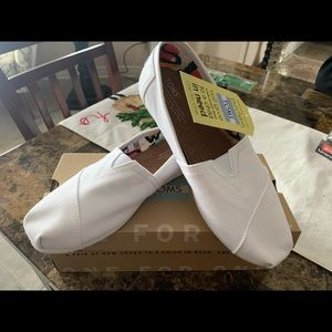 Brand new all white Toms!